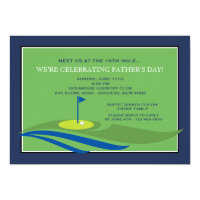 On the Green Father's Day Invitation