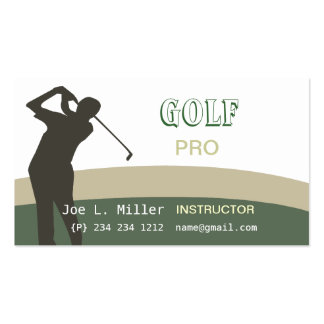 On The Green Golf Business Card Templates