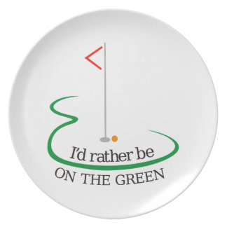 On the Green Melamine Plate