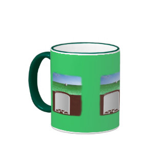 On the green ringer coffee mug