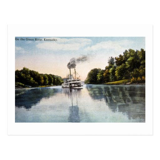 On the Green River, Kentucky Postcard