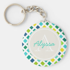 On the Grid Keychain at Zazzle