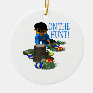 On The Hunt Double-Sided Ceramic Round Christmas Ornament