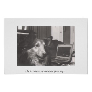 On the Internet no one knows your a dog!! Poster