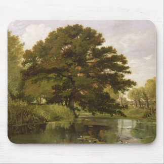 On the Isis, Waterperry, Oxfordshire, 1806 (oil on Mousepad