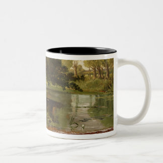 On the Isis, Waterperry, Oxfordshire, 1806 (oil on Two-Tone Coffee Mug