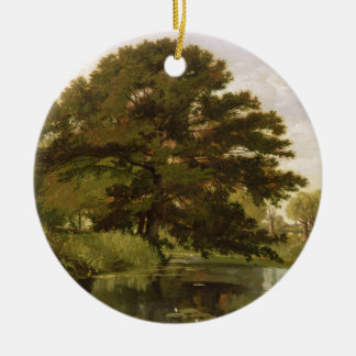 On the Isis, Waterperry, Oxfordshire, 1806 (oil on Christmas Tree Ornaments