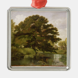 On the Isis, Waterperry, Oxfordshire, 1806 (oil on Christmas Ornaments