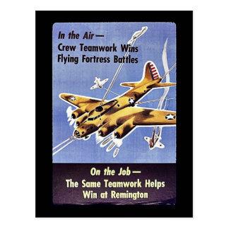 On The Job, The Same Teamwork Helps Win At Remingt Postcard