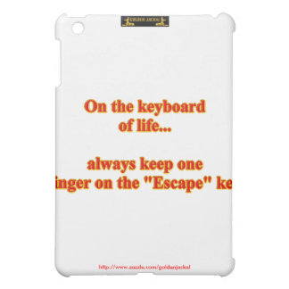 On the keyboard of life... funny humor humorous case for the iPad mini