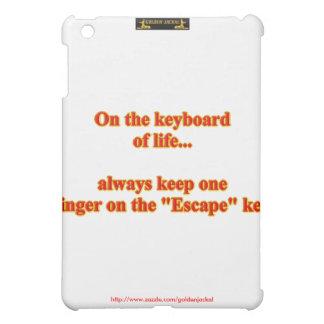 On the keyboard of life... funny humor humorous iPad mini cases
