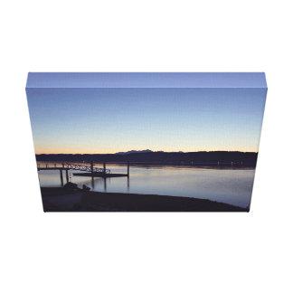 On the lake at night canvas print