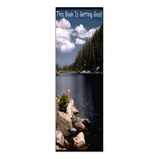 On The Lake Business Card Bookmark