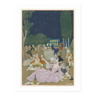 On the Lawn, illustration for 'Fetes Galantes' by Postcard
