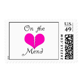 on the mend postage stamps