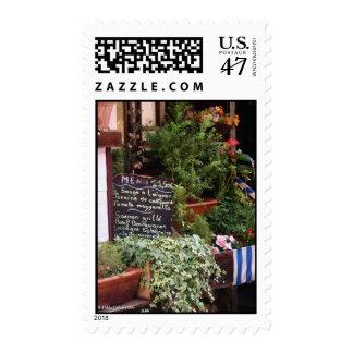 On The Menu Postage Stamp