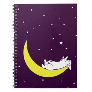 ON THE MOON SPIRAL NOTEBOOK