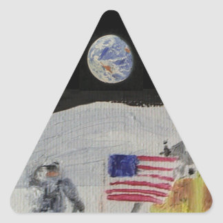 On the Moon Triangle Sticker