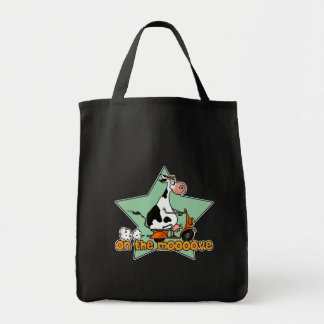 on the moove scoot cow grocery tote bag
