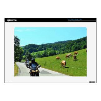 "On the motorbike trough Austria 01 15"" Laptop Decals"