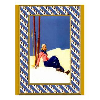 On the mountain slopes postcard