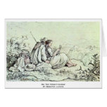 On The Mountainside By Richter Ludwig Greeting Card