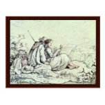 On The Mountainside By Richter Ludwig Postcard