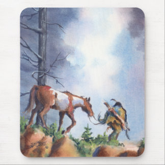 ON THE MOVE by SHARON SHARPE Mouse Pad