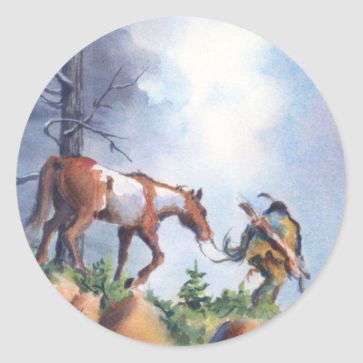 ON THE MOVE by SHARON SHARPE Round Stickers
