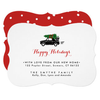 On The Move, Holiday Moving Announcment Card