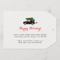 On The Move, Holiday Moving Announcment Tag