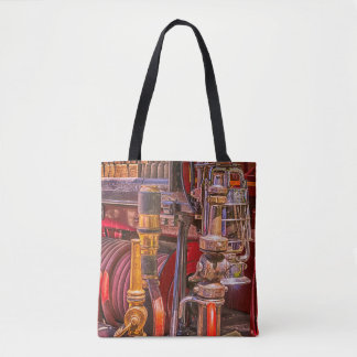 On The Old Firetruck Tote Bag