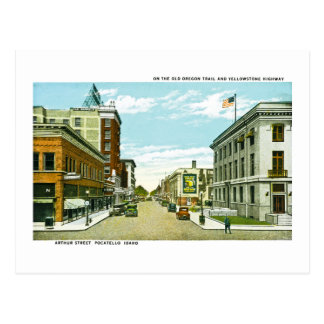 On the Old Oregon Trail and Yellowstone Highway Postcard