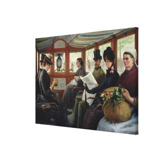 On the Omnibus, 1880 Canvas Print