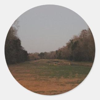 On the open range classic round sticker
