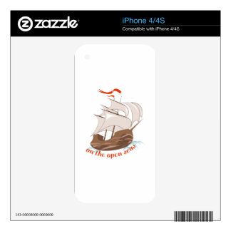 On The Open Seas Skin For iPhone 4