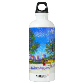 On the Outskirts of Paris by Vincent Van Gogh Aluminum Water Bottle