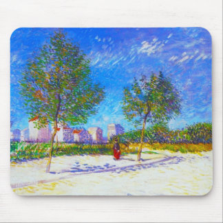 On the Outskirts of Paris by Vincent Van Gogh Mouse Pad
