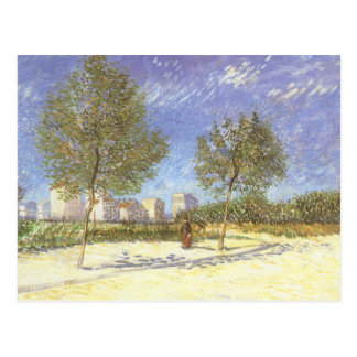 On the Outskirts of Paris by Vincent van Gogh Postcard