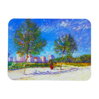 On the Outskirts of Paris by Vincent Van Gogh Rectangular Photo Magnet