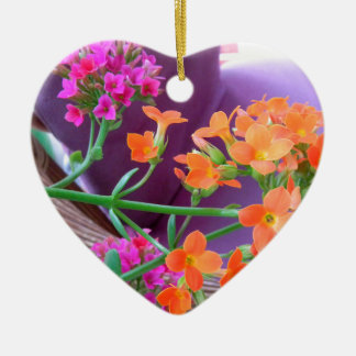 ON THE PATIO Double-Sided HEART CERAMIC CHRISTMAS ORNAMENT