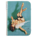 On the Phone - Vintage Pin Up Girl Kindle Keyboard Cases