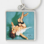 On the Phone - Vintage Pin Up Girl Keychains