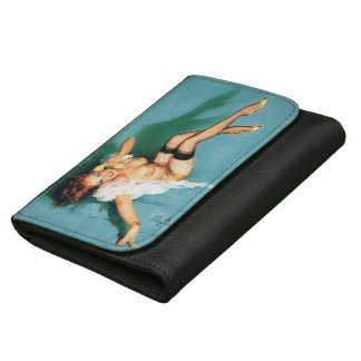 On the Phone - Vintage Pin Up Girl Leather Wallets