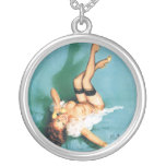 On the Phone - Vintage Pin Up Girl Pendant