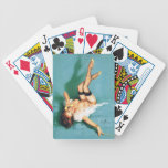On the Phone - Vintage Pin Up Girl Bicycle Playing Cards