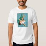 On the Phone - Vintage Pin Up Girl Shirt