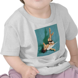 On the Phone - Vintage Pin Up Girl T Shirts