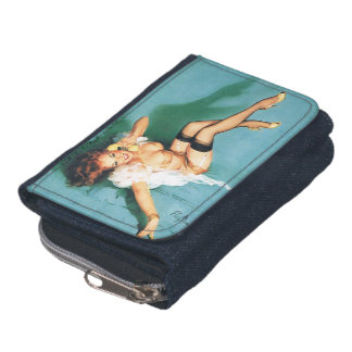 On the Phone - Vintage Pin Up Girl Wallet
