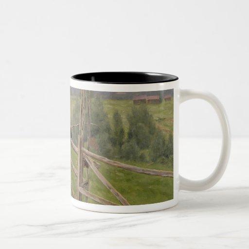On the Plain Two-Tone Coffee Mug